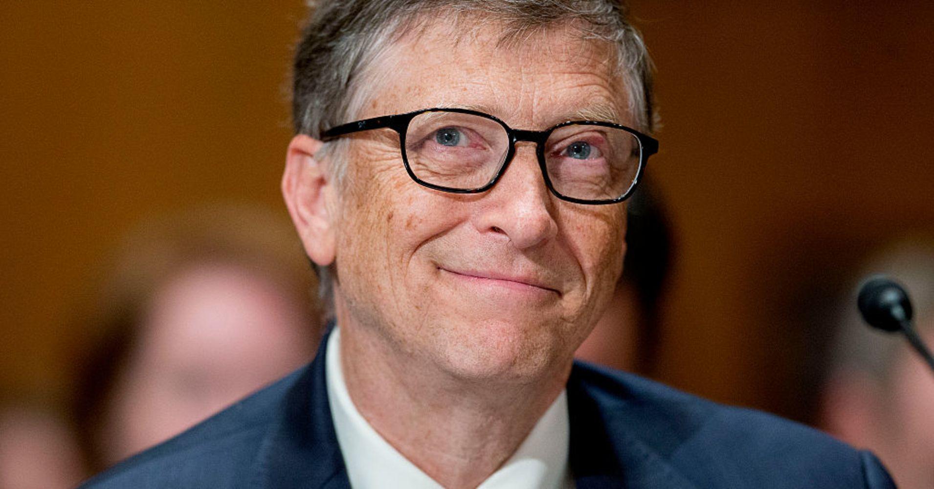 Bill Gates avec son petit air mi-génie, mi-comique
